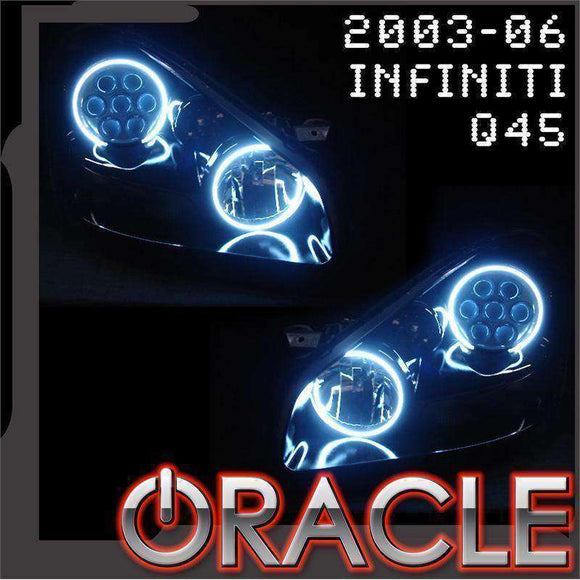 2003-2006 Infiniti Q45 Plasma Headlight Halo Kit by Oracle™
