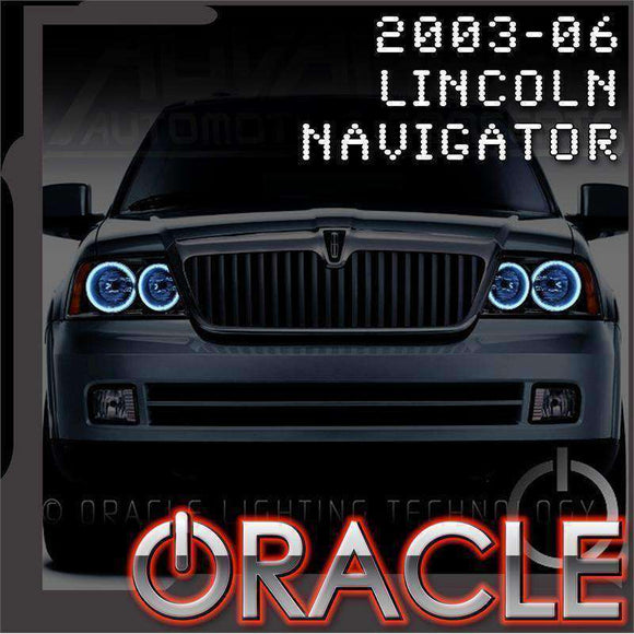 2003-2006 Lincoln Navigator ColorSHIFT LED Headlight Halo Kit by Oracle™