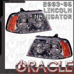 2003-2006 Lincoln Navigator ColorSHIFT LED Pre-Assembled Oracle™ Halo Headlights