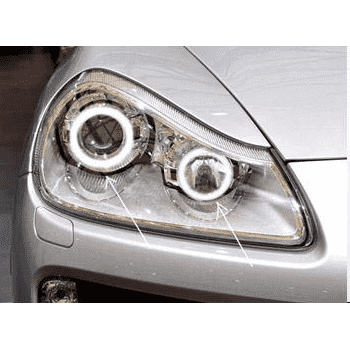 2003-2006 Porsche Cayenne ColorSHIFT LED Headlight Halo Kit by Oracle™