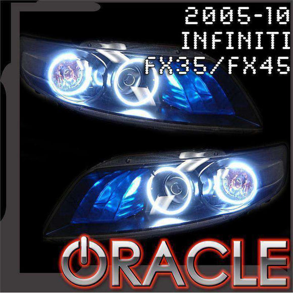 2003-2007 Infiniti FX35/FX45 ColorSHIFT LED Headlight Halo Kit by Oracle™