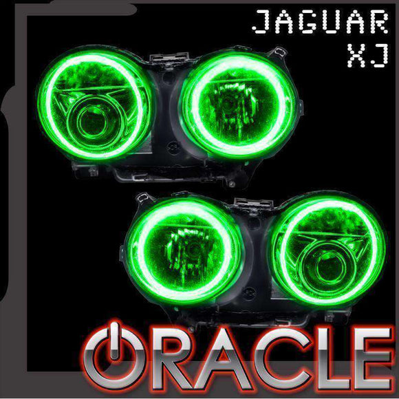 2003-2009 Jaguar XJ ColorSHIFT LED Headlight Halo Kit by Oracle™