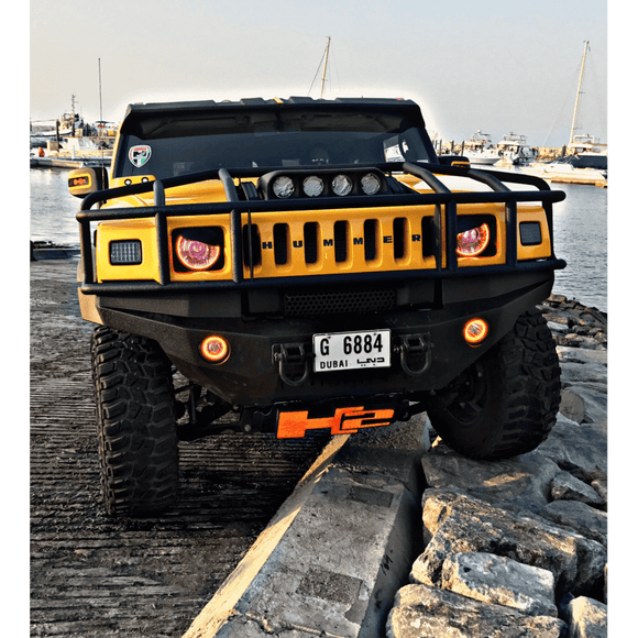 2003-2010 Hummer H2 LED Headlight Halo Kit by Oracle™