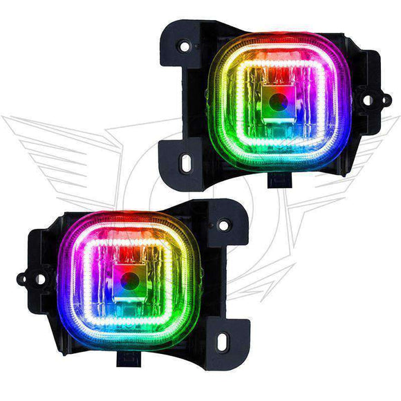 2004-2005 Ford Ranger ColorSHIFT LED Pre-Assembled Halo Fog Lights by Oracle™