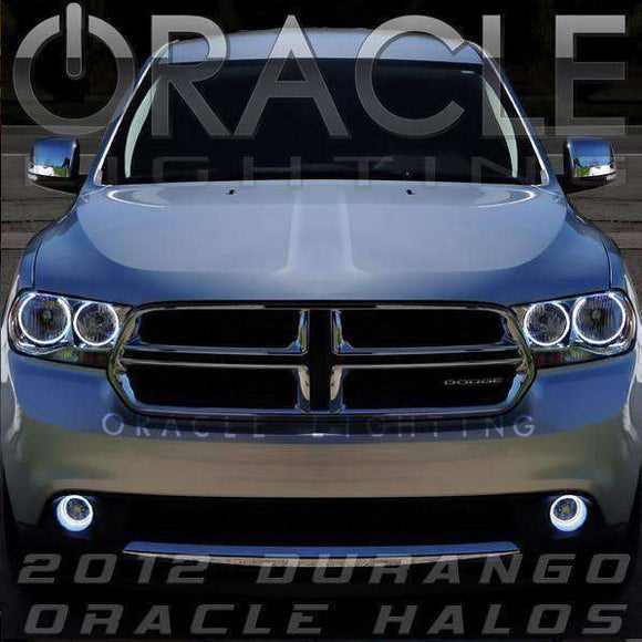 2004-2006 Dodge Durango ColorSHIFT LED Pre-Assembled Halo Headlights (Black) by Oracle™