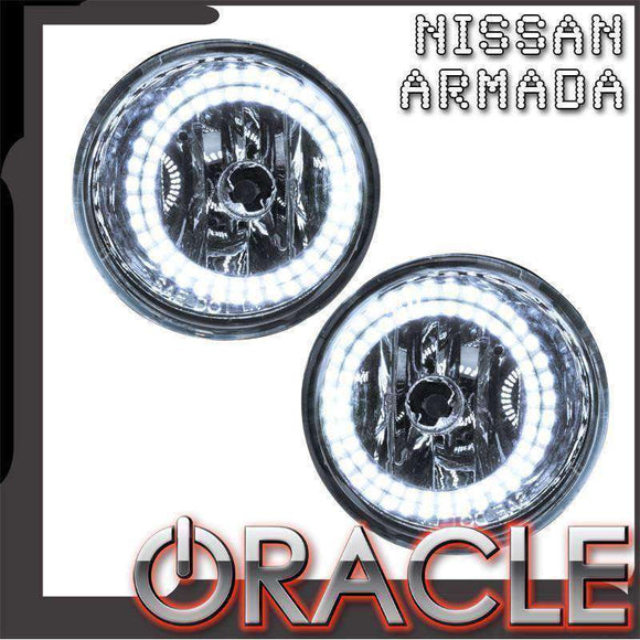 2004-2007 Nissan Armada Plasma Pre-Assembled Halo Fog Lights by Oracle™