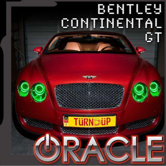2004-2009 Bentley Continental GT ColorSHIFT LED Headlight Halo Kit by Oracle™