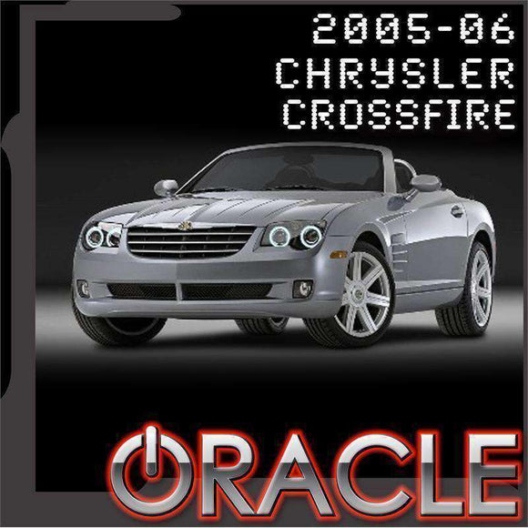 2005-2006 Chrysler Crossfire ColorSHIFT LED Headlight Halo Kit by Oracle™