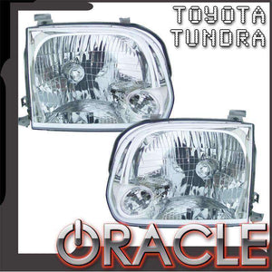 2005-2006 Toyota Tundra Double Cab ColorSHIFT LED Pre-Assembled Oracle™ Halo Headlights