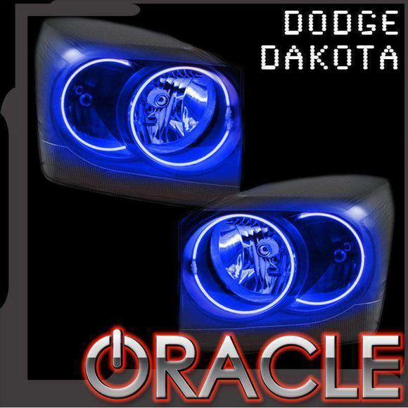 2005-2007 Dodge Dakota ColorSHIFT LED Headlight Halo Kit by Oracle™