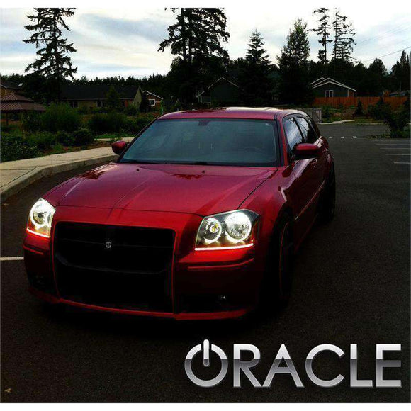 2005-2007 Dodge Magnum ColorSHIFT LED Pre-Assembled Halo Fog Lights by Oracle™