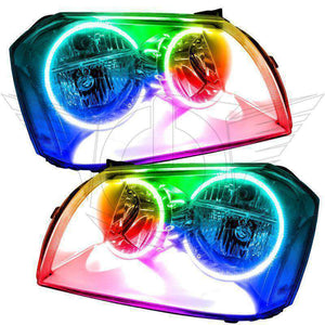 2005-2007 Dodge Magnum ColorSHIFT LED Pre-Assembled Halo Headlights Chrome by Oracle™