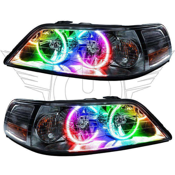 2005-2008 Lincoln Town Car Non-HID ColorSHIFT LED Pre-Assembled Oracle™ Halo Headlights
