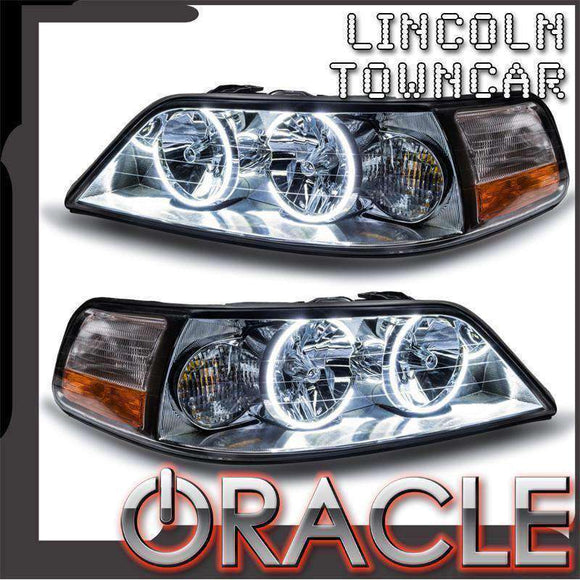 2005-2011 Lincoln Town Car Non-HID LED Pre-Assembled Oracle™ Halo Headlights