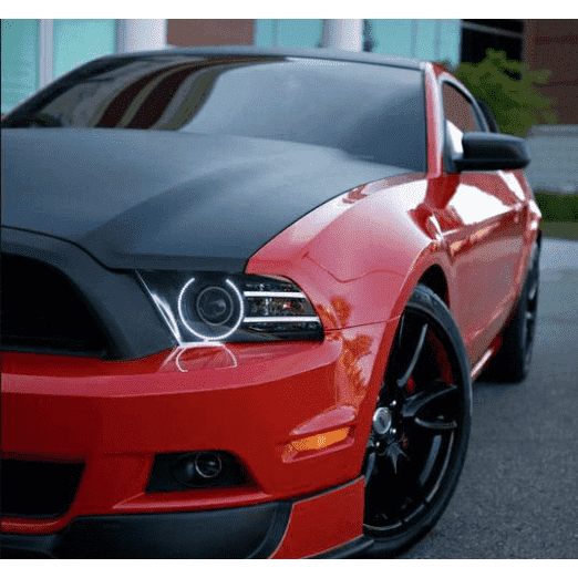 2005-2009 Ford Mustang ColorSHIFT LED Pre-Assembled Halo Headlights (Black Paint) by Oracle™