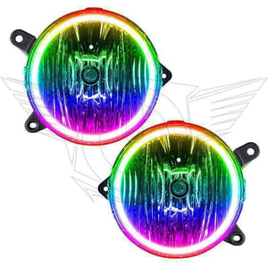 2005-2009 Ford Mustang GT ColorSHIFT LED Pre-Assembled Halo Fog Lights by Oracle™