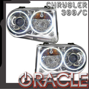 2005-2010 Chrysler 300C Non-HID LED Pre-Assembled Oracle™ Halo Headlights