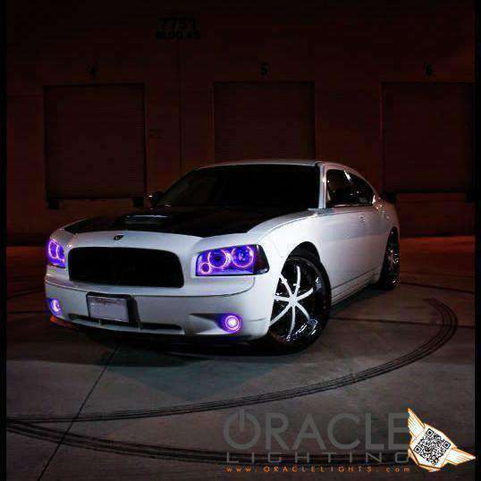 2005-2010 Dodge Charger LED Headlight Triple Halo Kit by Oracle™