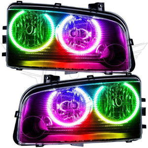 2005-2010 Dodge Charger Non-HID ColorSHIFT LED Pre-Assembled Oracle™ Halo Headlights