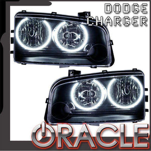 2005-2010 Dodge Charger Non-HID LED Pre-Assembled Oracle™ Halo Headlights
