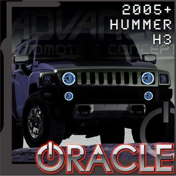 2005-2010 Hummer H3 LED Headlight Halo Kit by Oracle™
