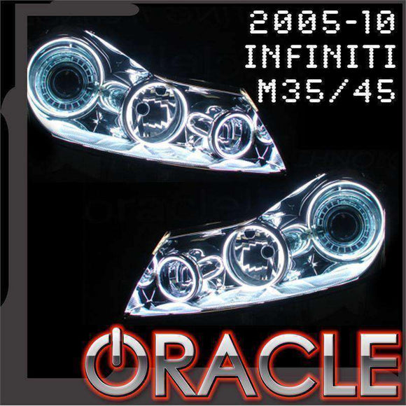 2005-2010 Infiniti M35/M45 ColorSHIFT LED Headlight Halo Kit by Oracle™