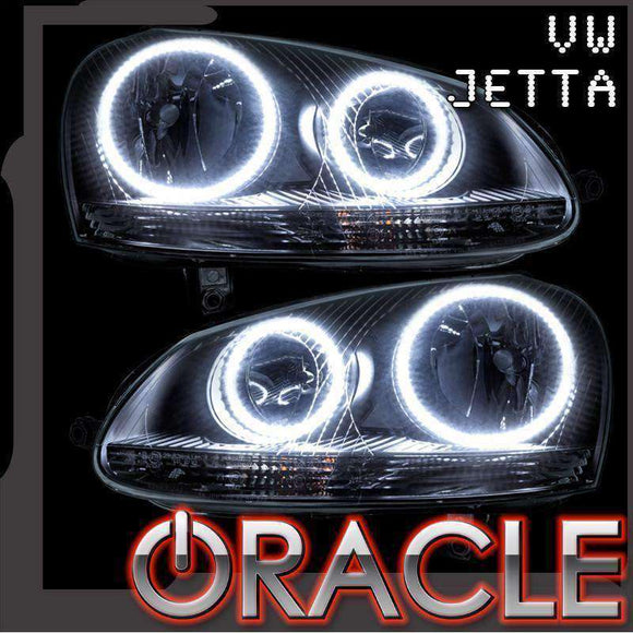 2005-2010 Volkswagen Jetta/GTI ColorSHIFT LED Headlight Halo Kit by Oracle™