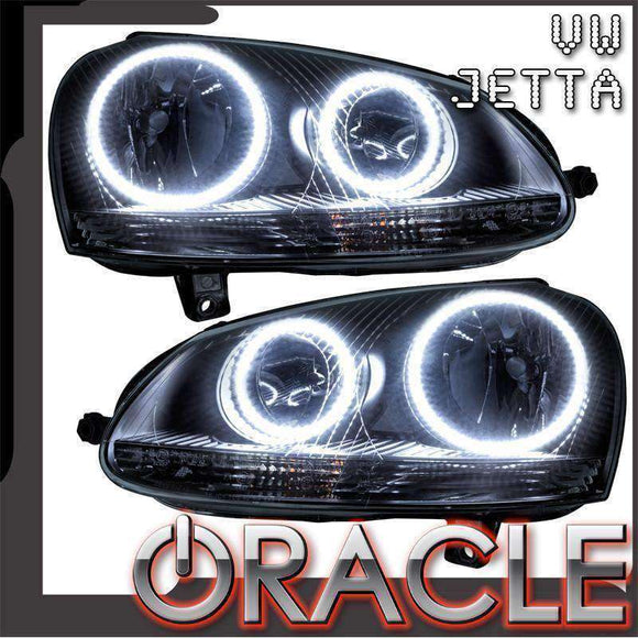 2006-2010 Volkswagen Jetta LED Pre-Assembled Oracle™ Halo Headlights - Chrome