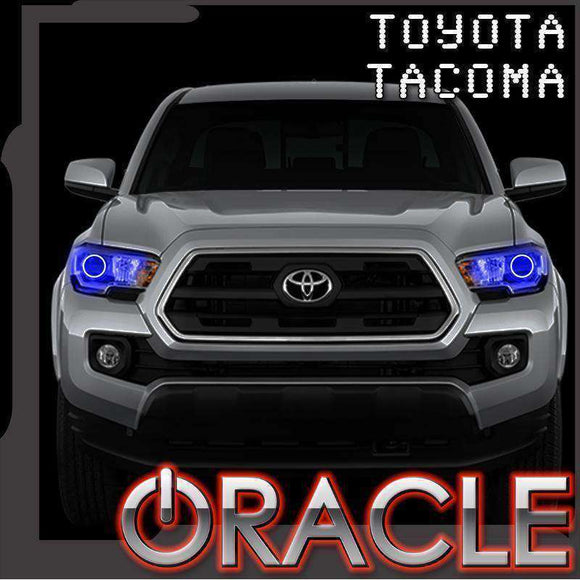 2005-2011 Toyota Tacoma ColorSHIFT LED Pre-Assembled Oracle™ Halo Headlights - Chrome