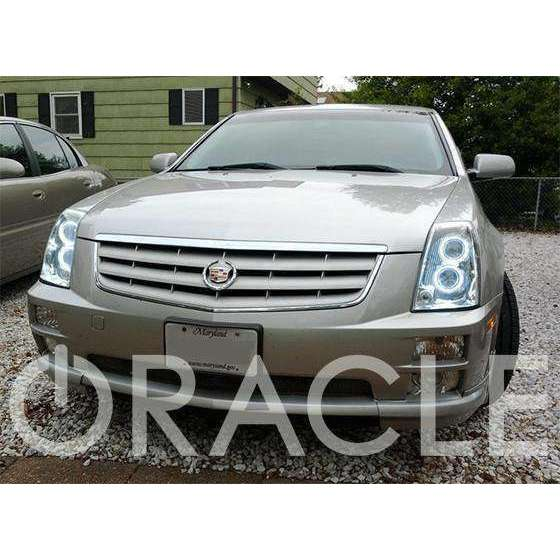 2005-2012 Cadillac STS ColorSHIFT LED Headlight Halo Kit by Oracle™