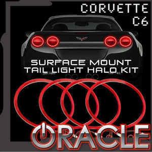 2005-2013 Chevrolet Corvette C6 LED Surface Mount Tail Light Halo Kit by Oracle™