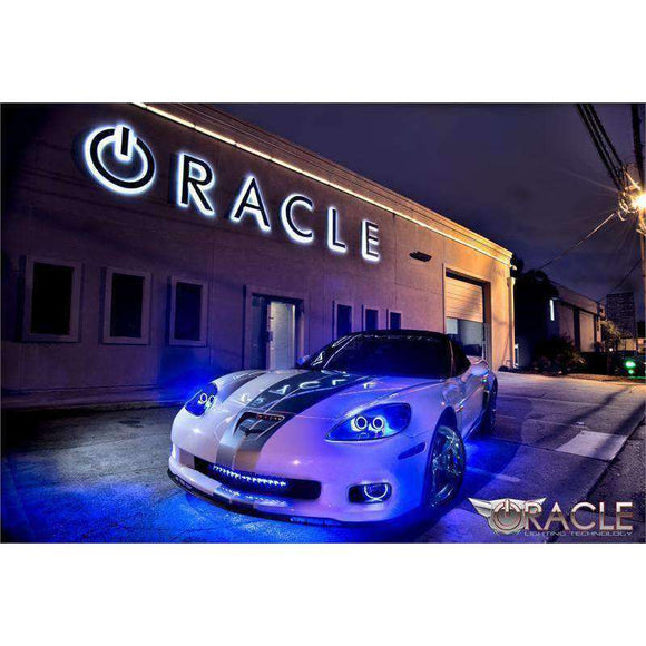 2005-2013 Chevrolet Corvette C6 Plasma Fog Light Halo Kit by Oracle™