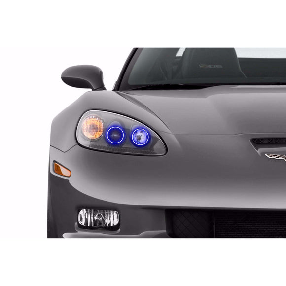 2005-2013 Chevrolet Corvette C6 Profile Prism (formerly ColorMorph) Halo Headlight Kits by LED Concepts™