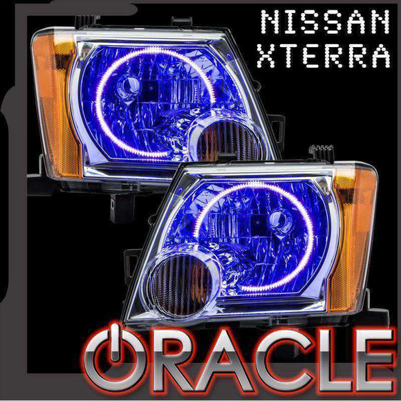 2005-2014 Nissan Xterra LED Headlight Halo Kit by Oracle™