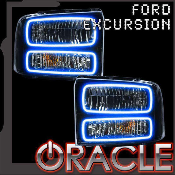 2005 Ford Excursion ColorSHIFT LED Headlight Halo Kit by Oracle™