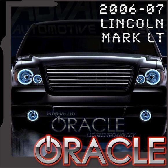 2006-2007 Lincoln Mark LT LED Headlight Halo Kit by Oracle™