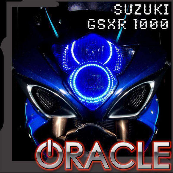 2006-2007 Suzuki GSX-R 1000 ColorSHIFT LED Headlight Halo Kit by Oracle™