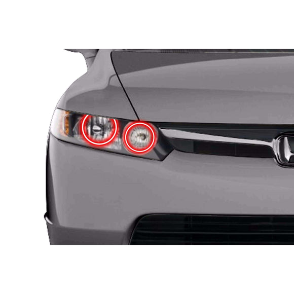 2006-2008 Honda Civic Sedan Profile Prism (formerly ColorMorph) Halo Headlight Kits by LED Concepts™