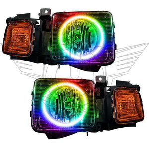 2006-2008 Hummer H3 ColorSHIFT LED Pre-Assembled Oracle™ Halo Headlights