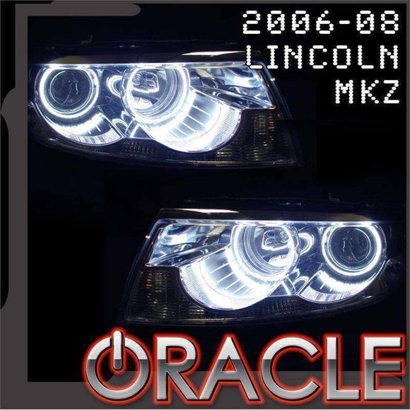2006-2008 Lincoln MKZ LED Headlight Halo Kit by Oracle™