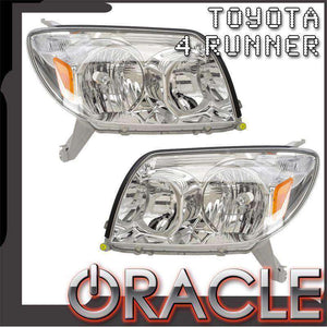 2006-2009 Toyota 4Runner Non-HID ColorSHIFT LED Pre-Assembled Oracle™ Halo Headlights