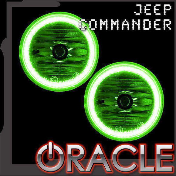 2006-2010 Jeep Commander LED Fog Light Halo Kit by Oracle™