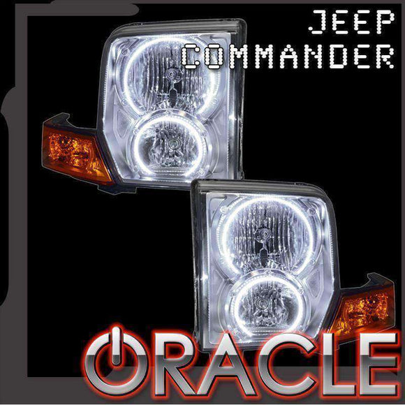 2006-2010 Jeep Commander LED Headlight Halo Kit by Oracle™