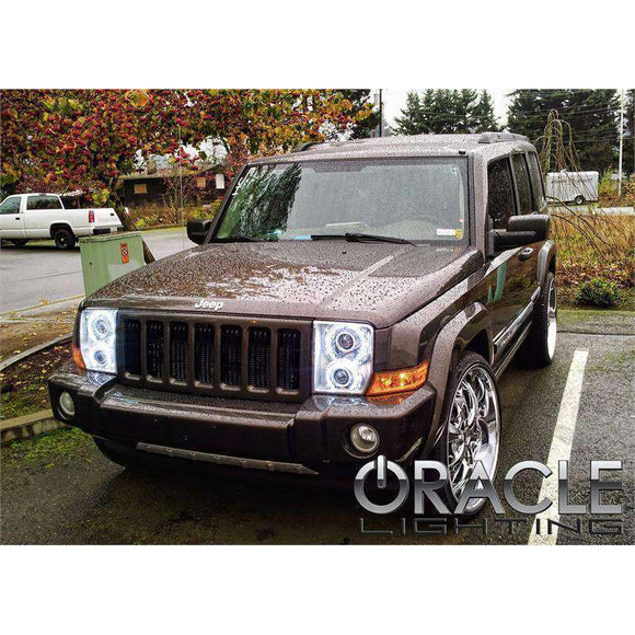 2006-2010 Jeep Commander LED Pre-Assembled Oracle™ Halo Headlights