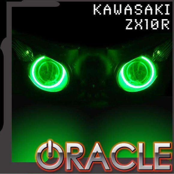 2006-2010 Kawasaki ZX-10R ColorSHIFT LED Headlight Halo Kit by Oracle™