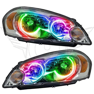 2006-2013 Chevrolet Impala ColorSHIFT LED Pre-Assembled Halo Headlights (Non-Projector Only) by Oracle™