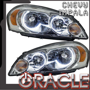 2006-2013 Chevrolet Impala LED Pre-Assembled Halo Headlights (Non-Projector Only) by Oracle™