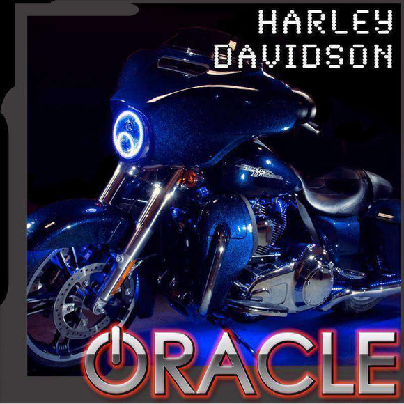 2006-2015 Harley-Davidson Street Glide ColorSHIFT LED Headlight Halo Kit by Oracle™
