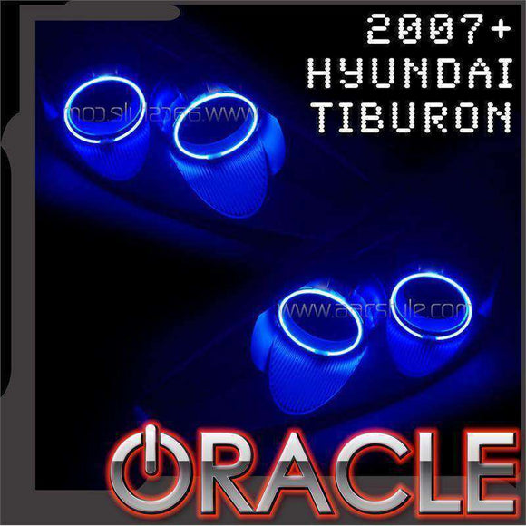 2007-2008 Hyundai Tiburon LED Headlight Halo Kit by Oracle™