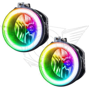 2007-2009 Chrysler Aspen ColorSHIFT LED Pre-Assembled Halo Fog Lights by Oracle™